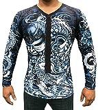 TRI-TITANS Rōnin- Masterless Samurai Long Sleeves Compression Shirt- BJJ Wrestling MMA (Adult S: chest 28''-30'')
