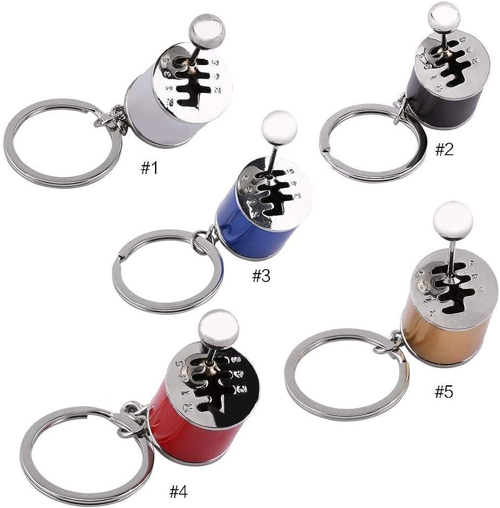 3 Colors Cool Fashion Metal Gear Stick Knob Keyring Key Chain Car Accessories