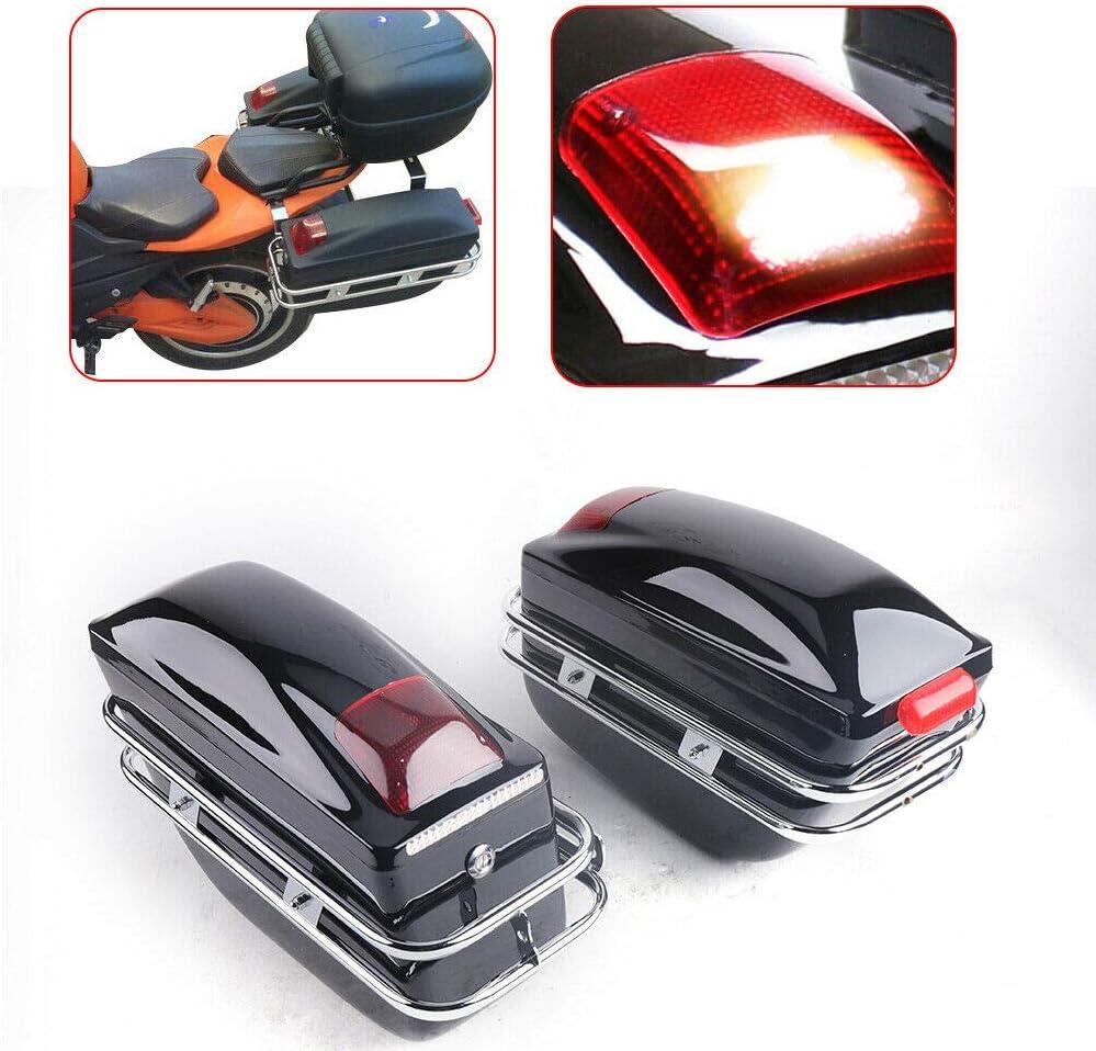 OUKANING - Maleta Lateral para Motocicleta, diseño Mate, Universal