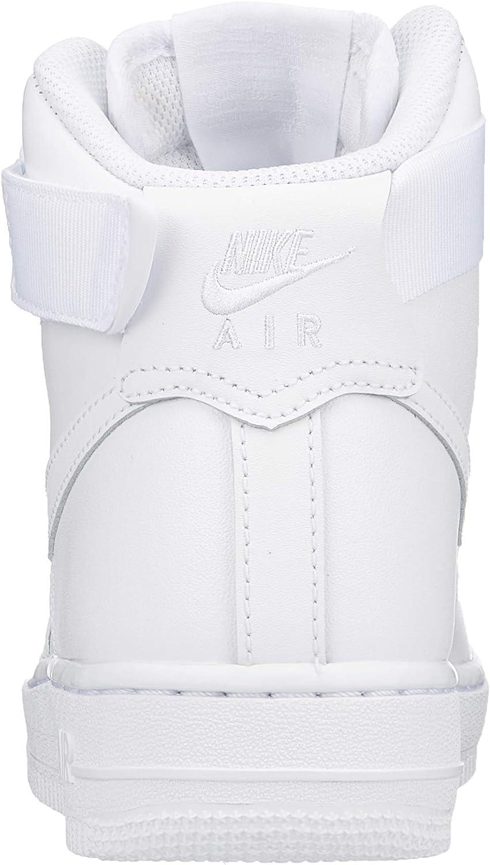 Pulido Humorístico Inactividad  Amazon.com: Nike Mujeres Air Force 1 Alto Blanco 334031-105: Shoes