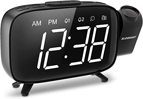 Elegiant Projection Radio Alarm Clock