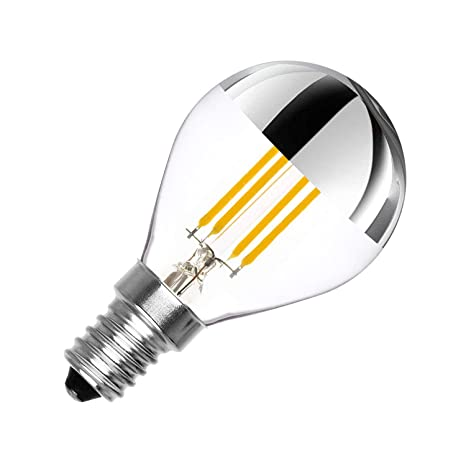 Bombilla LED E14 Regulable Filamento Reflect G45 3.5W efectoLED