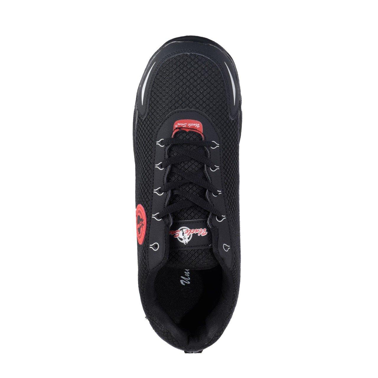 Uncle Sam Herren Leichtlaufschuhe Sneaker Sportschuhe Joggingschuhe Schwarz//Rot