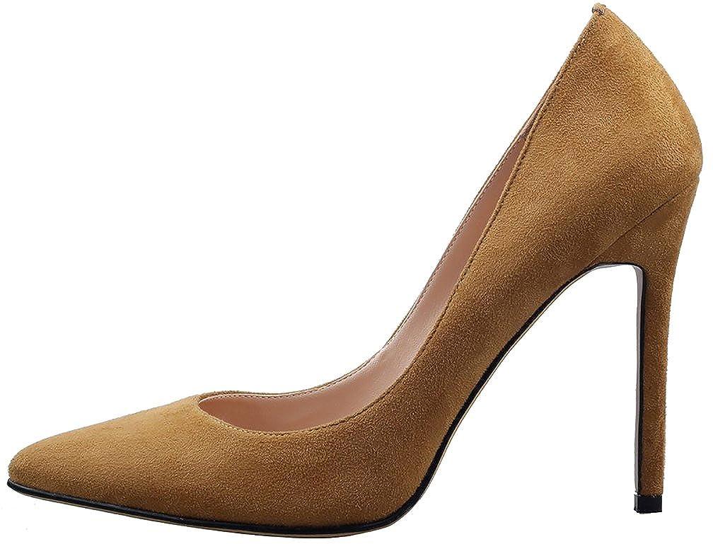 Calaier Calaier Calaier Damen Cacrossing 10CM Stiletto Schlüpfen Pumps Schuhe Beige 93b7d9
