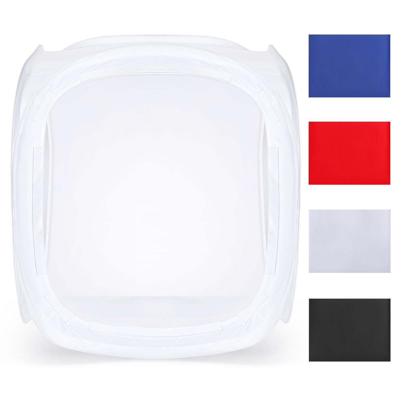Neewer Foto Estudio Caja de Luz 40cm Disparo Carpa Brillo Ajustable Plegable Portable Professional Table Top Fotograf/ía Kit de iluminaci/ón 120 Luces LED 4 Colores Telones de Fondo