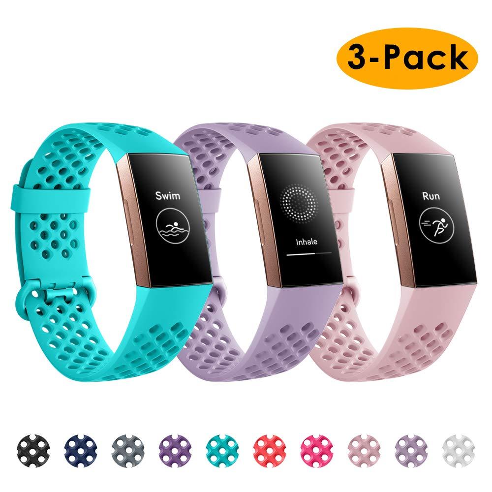 Mallas Para Reloj Fitbit Charge 3 (3 Unidades, Talle S)