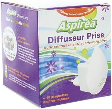 Aspirea - Difusor de enchufe antiácaros + 10 pastillas neutros ...