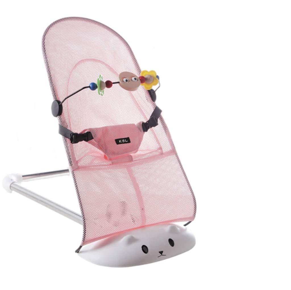 Baby Rocking Chair Sedia da dondolo in poliestere pieghevole, comoda e comoda (colore   rosa, dimensioni   90  40 cm (35.49  15.74in))