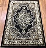 Antep Rugs Siesta Collection Traditional Oriental Polypropylene Indoor Area Rug (Black/Beige 8′ X 10′)