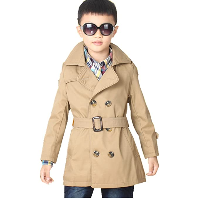 shop for authentic for sale lower price with LJYH Big Toddler Boys' Classic Peacoat Hooded Toggle Coat