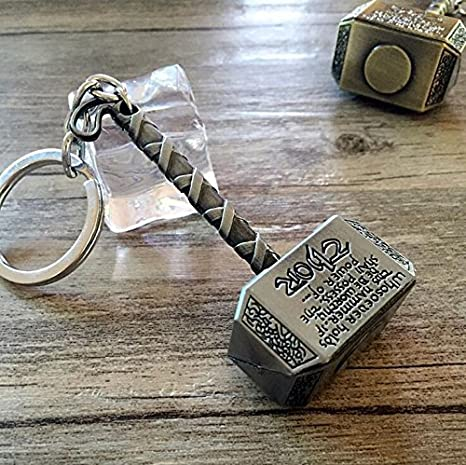 Amazon.com : Anndeeson Creative Thor Hammer Pewter Key Ring ...