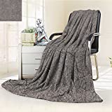 300 GSM Fleece Blanket cracked grey concrete surface seamless tileable texture Super Soft Warm Fuzzy Lightweight Bed or Couch Blanket(90''x 70'')