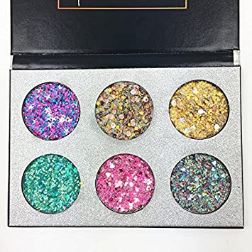 Beauty Essentials Eye Shadow 24 Color Eye Makeup Glitter Sequins Glue Face Manicure Shine Sequins Diamond Glitter Powder Loose Powder Pigment Flash Eyeshadow