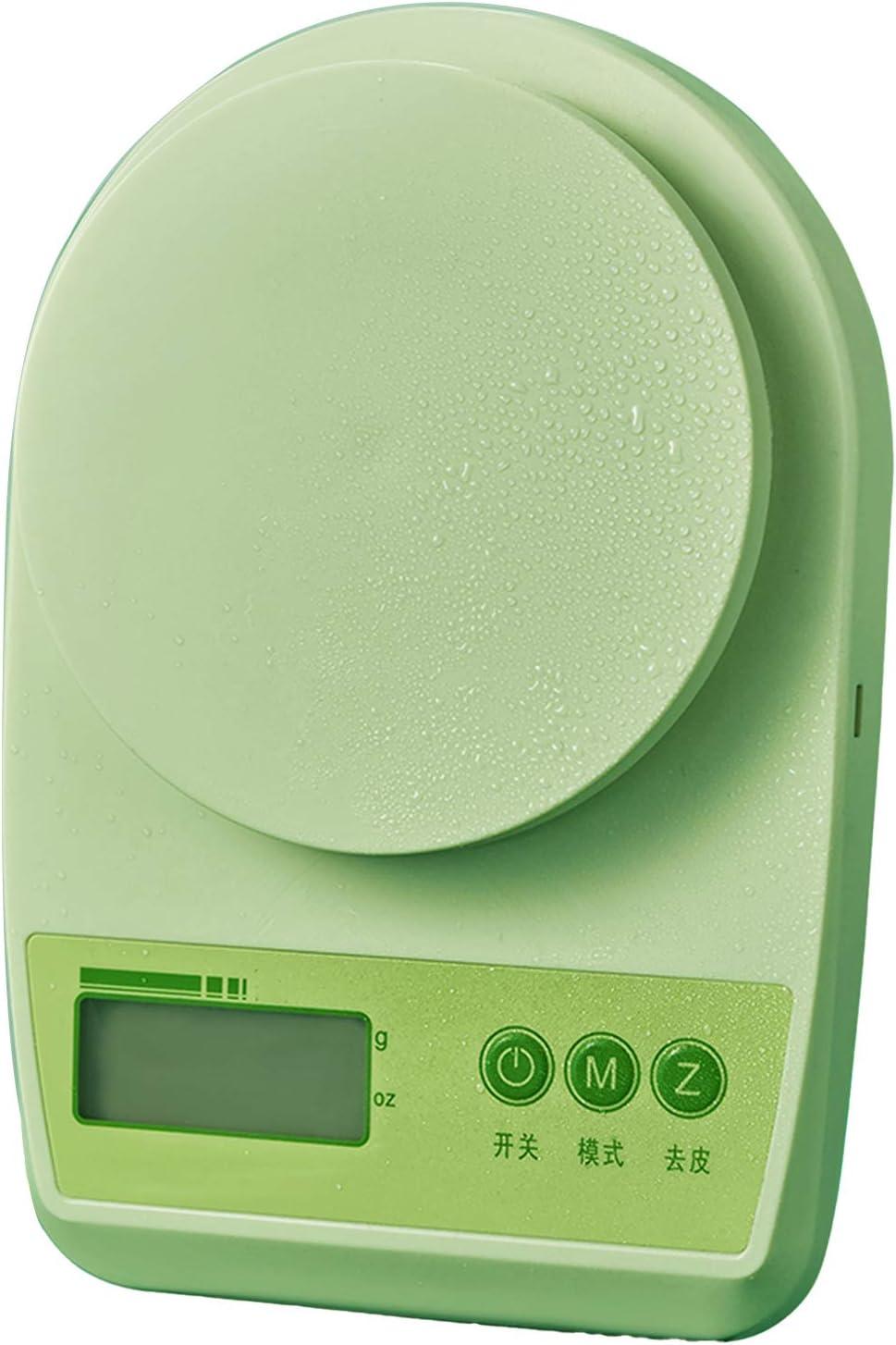 KOMOSO 1 pc digital de cocina báscula de pesaje de alimentos alimentado con batería función de tara impermeable para uso en casa oficina