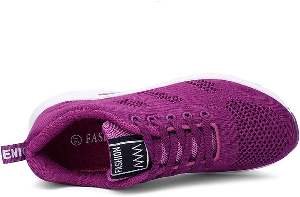 AARDIMI Chaussures de course légères en maille respirante pour femme Maille Violette