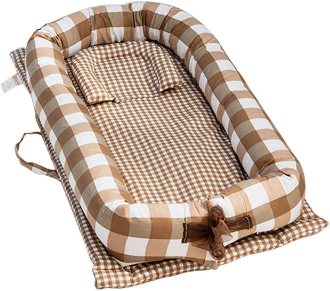 Nestchen 100/% Baumwolle 90x55x15cm Kuschelbett Reisebett Babynestchen TETAKE Babynest Multifunktionale Kuschelnest f/ür Babys und S/äuglinge