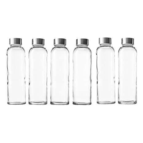 Amazon.com: Seacoast – Botellas de zumo de vidrio de 18 ...