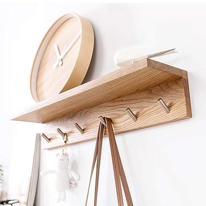 INNMAN - Perchero de madera 2 en 1 con gancho 6 ganchos de ...