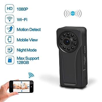 Mini Cámara Espía 1080P HD Infrarrojos Noche Visión IP Cámara Inalámbrica WiFi Cámara De Vigilancia Remotamente