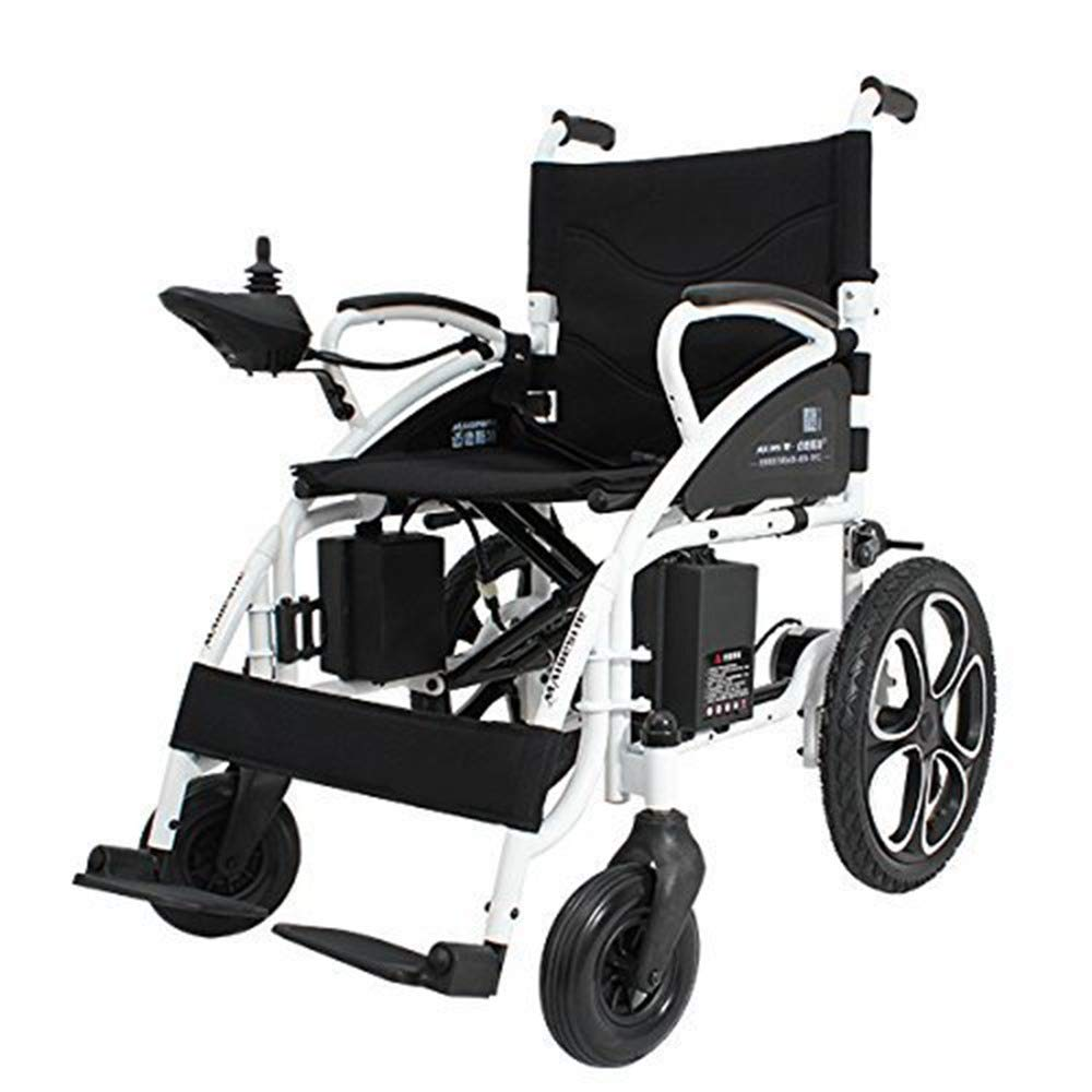 ComfyGO Electric Wheelchair Folding Motorized Power Wheelchairs, Fold Foldable Power Compact Mobility Aid Wheel Chair, Powerful Dual Motor Wheelchair, FDA Approved (Black) by ComfyGO