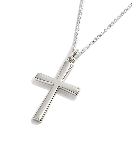 395e157800a6 First Communion Gift Sterling Silver Contemporary Cross Pendant  Confirmation Gifts  LJ Designs and Oaks Jewellery  Amazon.co.uk  Jewellery