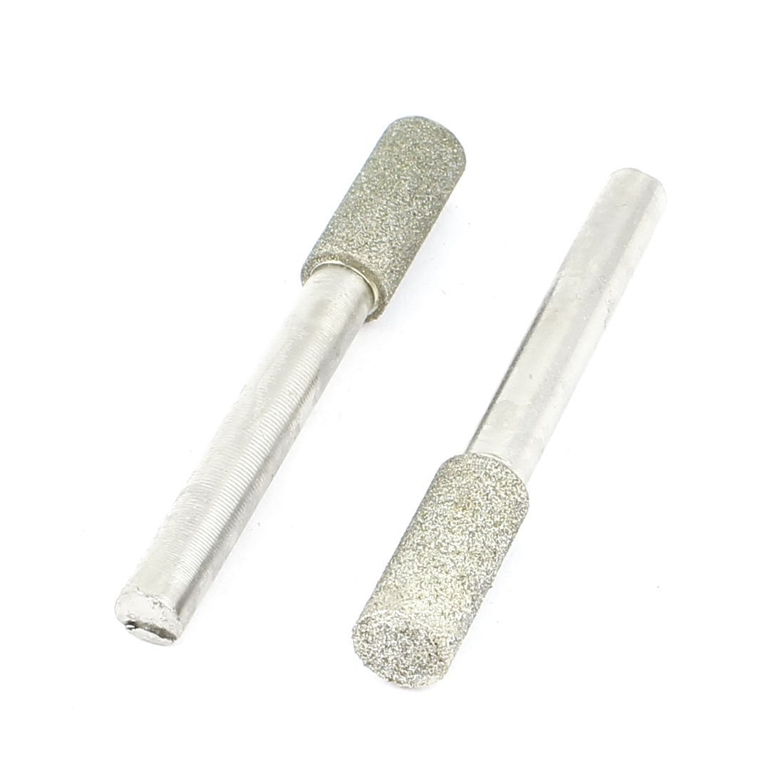 6mm Shank 8mm Cylinder Head Mounted Points Grinding Bit 2 Pcs Sourcingmap a14102700ux0122