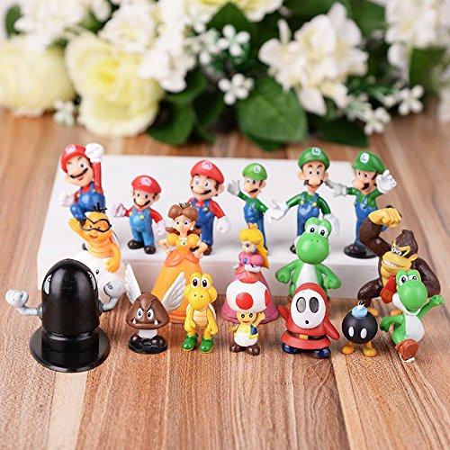 Super Mario Brothers Cake Topper 18 Piece Action Figures ToysoutletUSA