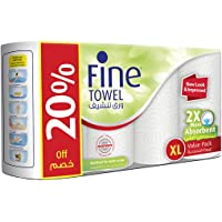 Fine Towel Extra Long (2X More Absorbent) 100 Sheets 2 Plies - Pack of 4