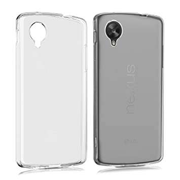 kwmobile Funda para LG Google Nexus 5 - Carcasa protectora de {TPU} para móvil - Cover {trasero} en {transparente mate}