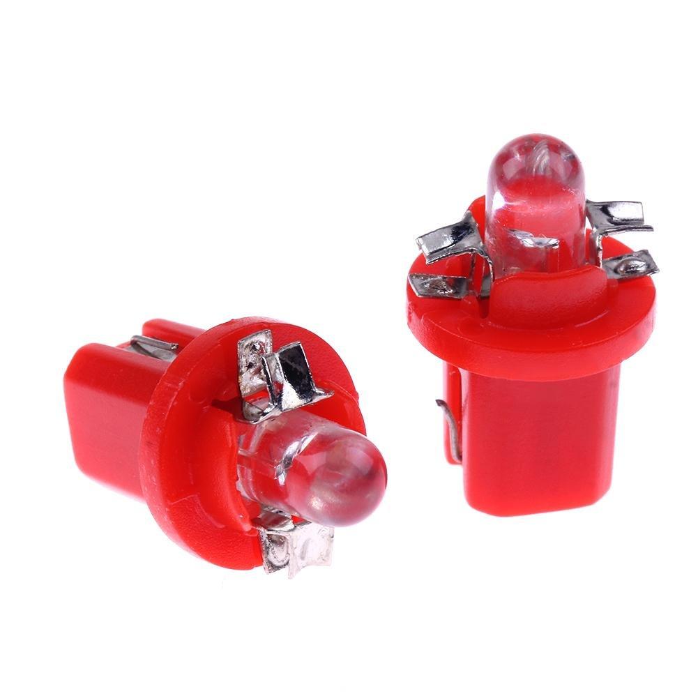 Prosperveil 10 lampadine a LED SMD T5/B8.5D 5050 per cruscotto dell/'auto