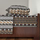 Roostery African 4pc Sheet Set Adinkra Cloth by Illustrative Images Queen Sheet Set made with