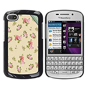 - Butterfly Design - - Hard Plastic Protective Aluminum Back Case Skin Cover FOR BlackBerry Q10 Queen Pattern
