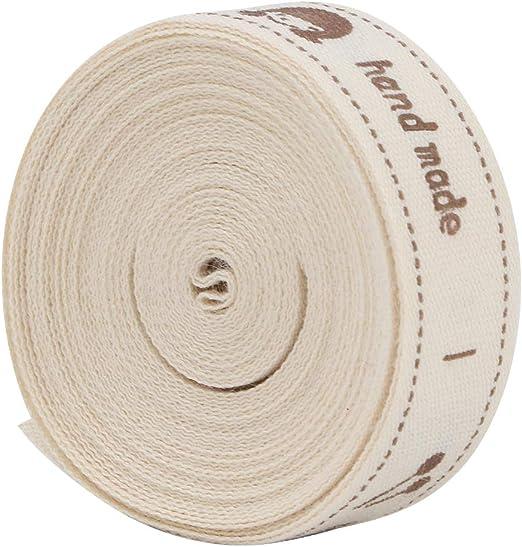 Cinta de algodón de 5 yardas, 1.5cm de ancho Regalo presente ...