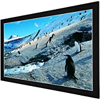 GHP 80x45 Matte White PVC Screen 16:9 160° Angle Fixed Frame Projection Screen