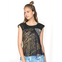 Desigual Women's Womens' Sport Cotton Half-Sleeve Denim Luxury