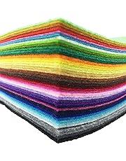 42pcs Felt Fabric Sheet Assorted Color Felt Pack DIY Craft Squares Nonwoven