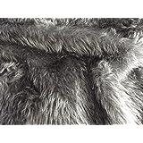 BABY BLUE Plain Fun Faux Fur Fabric Material