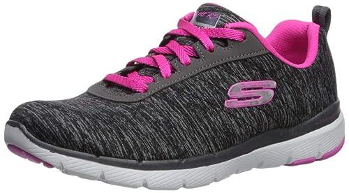 Skechers Damen Flex Appeal 2.0 Sneakers, Schwarz, 39 EU