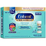 Enfamil Newborn PREMIUM Non-GMO Infant Formula 20 Calorie, Ready to Use, 2 Fluid Ounce Nursette Bottle, 6 Count (Pack of 4) (Packaging May Vary)