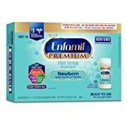 Enfamil PREMIUM Newborn Infant Formula 20 Calorie - Non-GMO - Ready to Use Nursette Bottles, 2 fl oz (24 count)