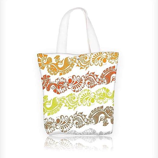 Bolsa de lona con estampado de flores y papel pintado ...