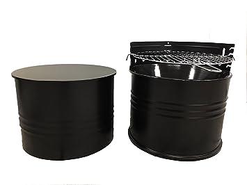 SRM Diseño de carbón vegetal Barbacoa Mesa Grill Barril ...