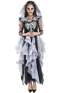 Forever Young Disfraz de Novia Zombi Adultos, Esqueleto de Día de ...