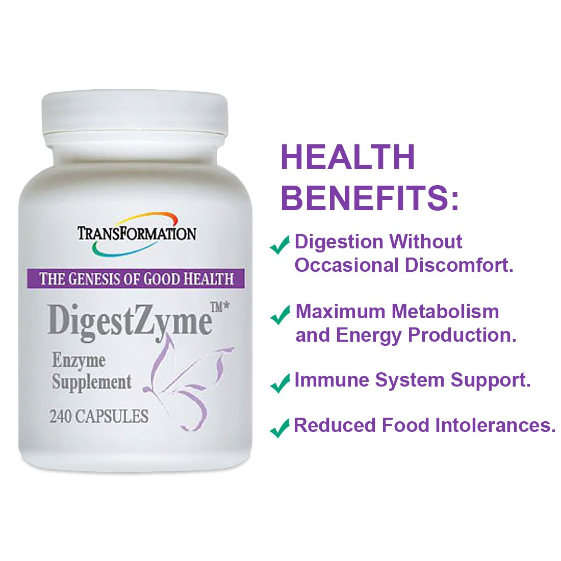 Amazon.com: Transformación enzima digestzyme 240: Health ...