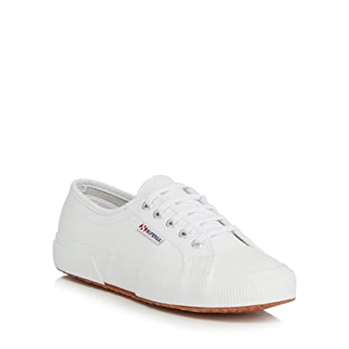 Superga Womens White Leather 'Efglu' Trainers 8