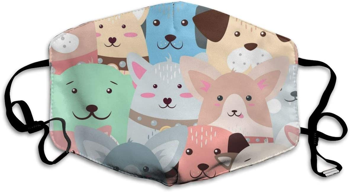 Houity Máscara Lavable a Prueba de Polvo, diseño Divertido de Animales, Suave, Transpirable, Lavable, con botón Ajustable, Apto para mascarillas de Hombre y Mujer