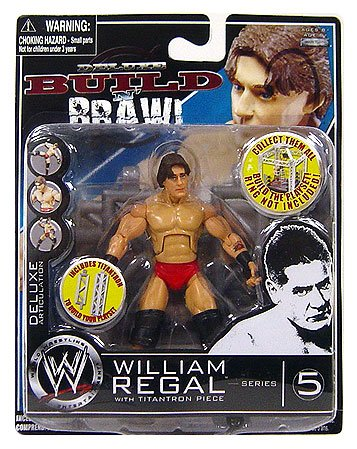 (WWE Wrestling Build N' Brawl Series 5 Mini 4 Inch Action Figure William Regal)