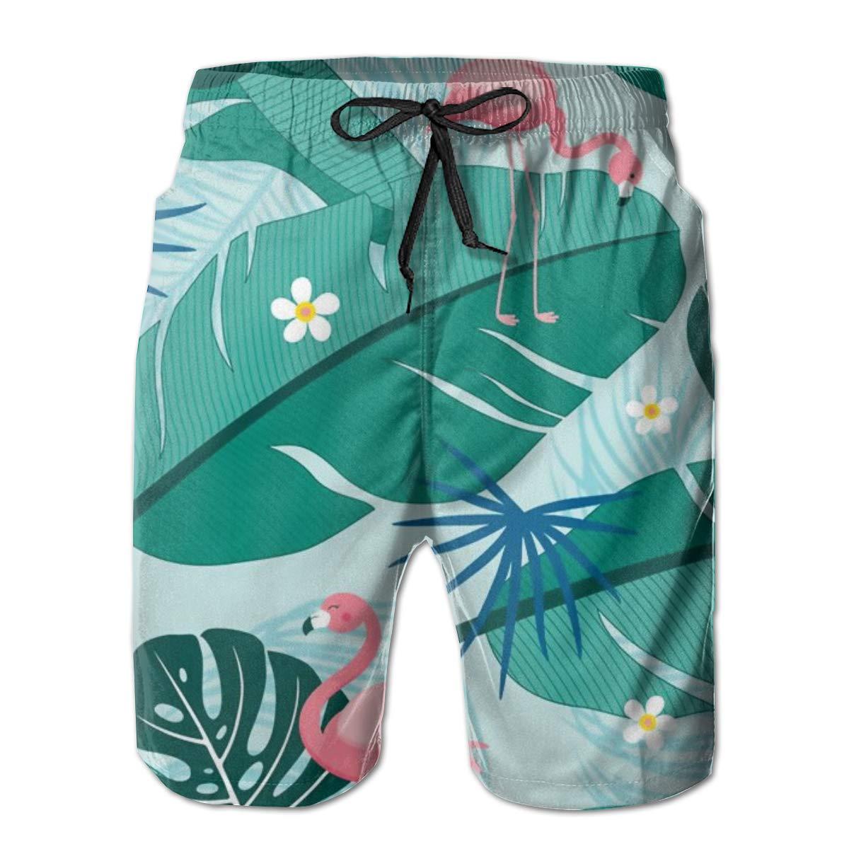 SARA NELL Mens Swim Trunks Pattern Tropical Summer Design Surfing Beach Board Shorts Swimwear
