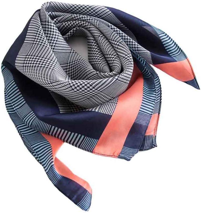 Square Silk Scarf Womens Fashion Silk Headscarf Neckerchief Neck Tie A