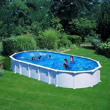 Gre KITPROV10288- Piscina Haiti desmontable ovalada de acero color blanco 1000x550x132 cm: Amazon.es: Jardín